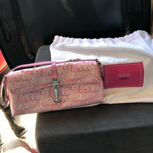Pink small Coach handbag